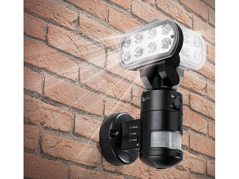 Fantastisch VisorTech LED-Flutlicht mit SD-Überwachungskamera (refurbished) AH17