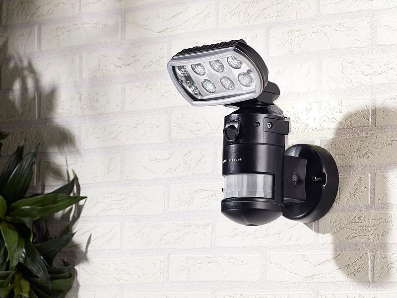 VisorTech HD-IP-Kamera m. LED-Flutlicht, 8 W, Bewegungsverfolgung ...