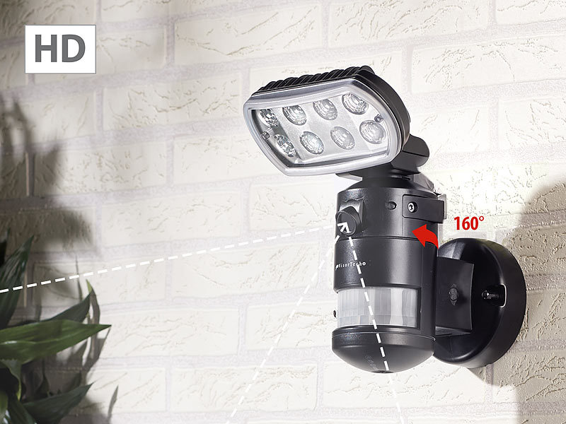 visortech hd ip kamera m led flutlicht 8 w bewegungsverfolgung sd aufz app. Black Bedroom Furniture Sets. Home Design Ideas