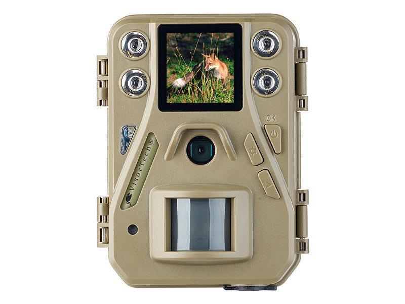 visortech hd mini wildkamera mit farbdisplay infrarot. Black Bedroom Furniture Sets. Home Design Ideas