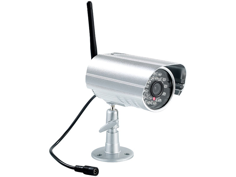visortech kabelloses berwachungssystem mit ir funk kamera. Black Bedroom Furniture Sets. Home Design Ideas