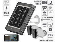 VisorTech 2-er Set Outdoor-Full-HD-IP-Überwachungskamera + Solar-Ladepanel