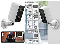 VisorTech Outdoor-IP-Überwachungskamera, Full HD, WLAN & App, Akku-Betrieb, IP65